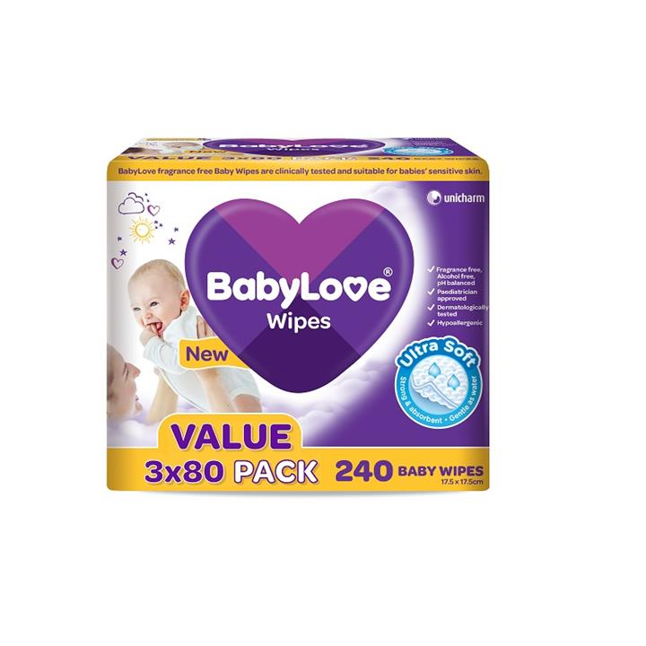 BabyLove Ultra Soft Baby Wipes X 240