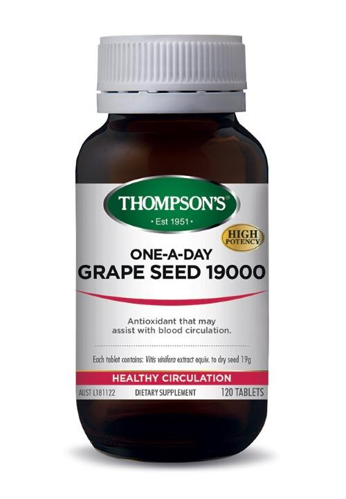 Thompson's One-A-Day Grape Seed 19000mg Tab X 120