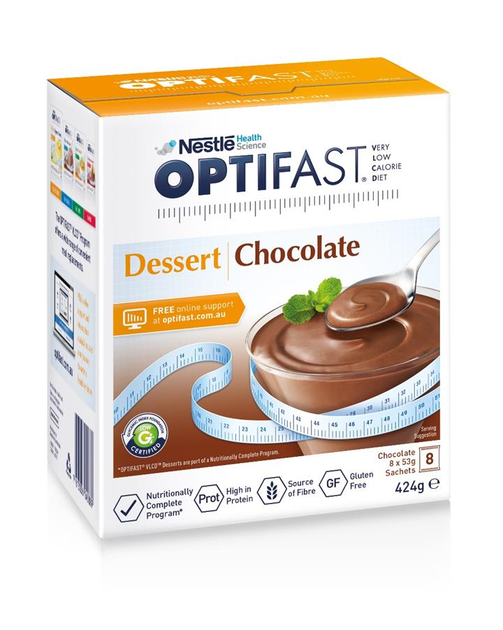 Optifast Dessert Chocolate Mousse 53g X 8