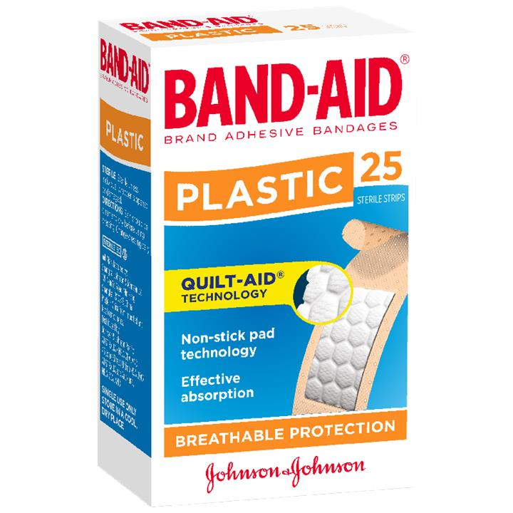 Band-Aid Plastic Strip X 25
