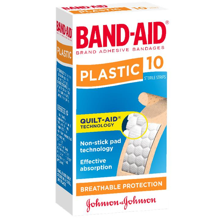 Band-Aid Plastic Strip X 10