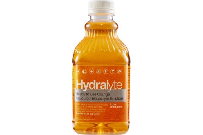 Hydralyte Electrolyte Solution Orange Flavoured 1 Litre