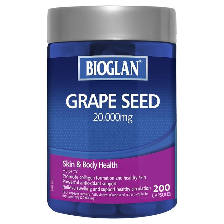 Bioglan Grape Seed 20000mg Cap X 200