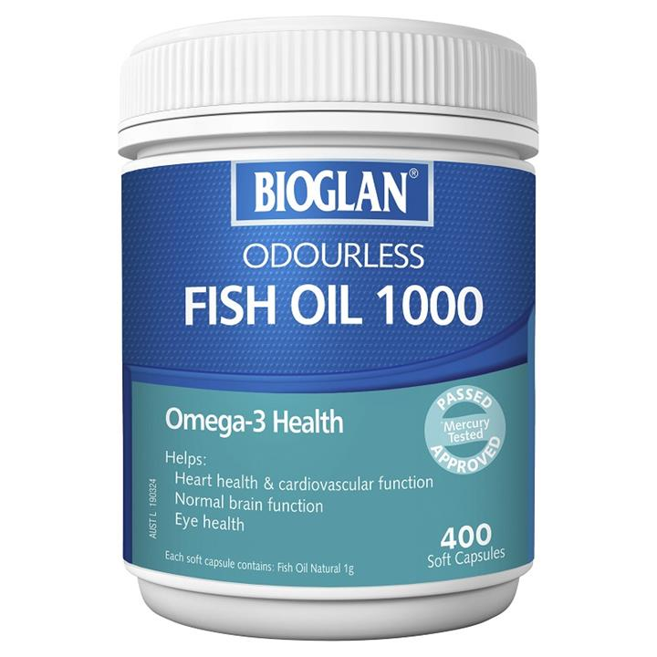 Bioglan Omega 3 Odourless Fish Oil 1000mg Cap X 400