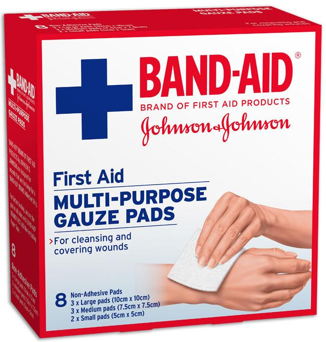 Band-Aid First Aid Gauze Pads X 8