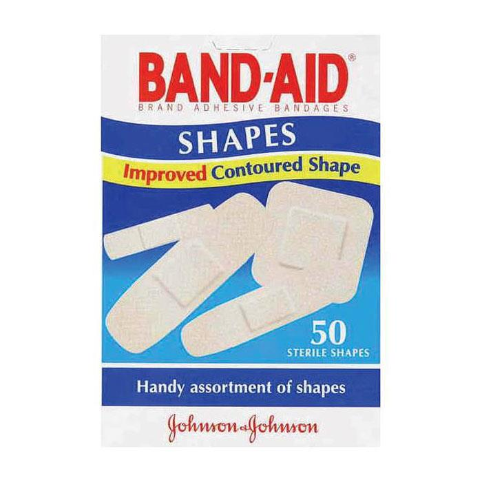 Band-Aid Plastic Shapes X 50