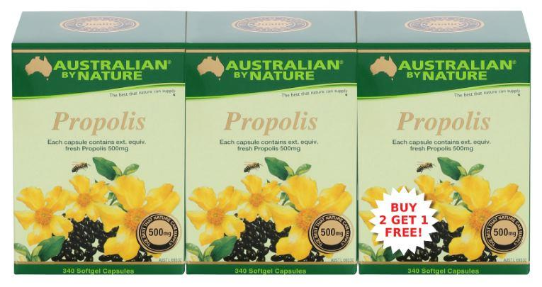 Australian By Nature Propolis 500mg Cap 365 X 3 (For the price of 2)