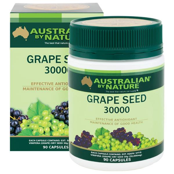 Australian By Nature Grape Seed 30000mg Cap X 90