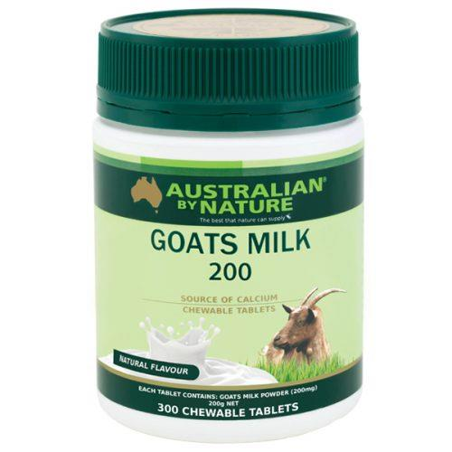 Australian By Nature Goats Milk 200mg (Natural Flavour) Tab X 300