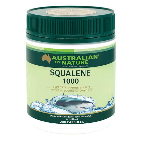 Australian By Nature Squalene 1000mg Cap X 200