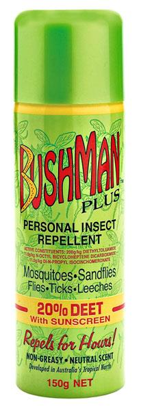 Bushman Plus Insect Repellent (With Sunscreen) 150g