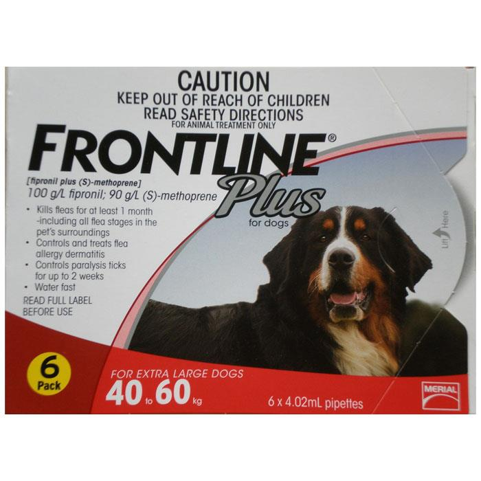 Frontline Plus For Extra Large Dogs (40-60kg) – 6 Pack