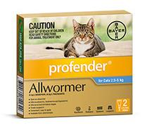 Profender All Wormer For Medium Cats (2.5-5kg) – 2 Pack
