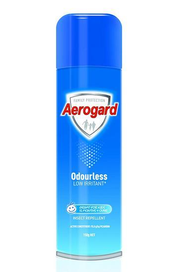 Aerogard Odourless Low Irritant Insect Repellent Spray 150g