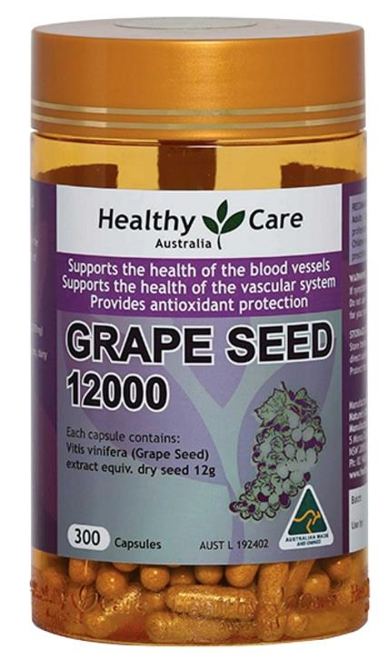 Healthy Care Grape Seed 12000 Cap X 300
