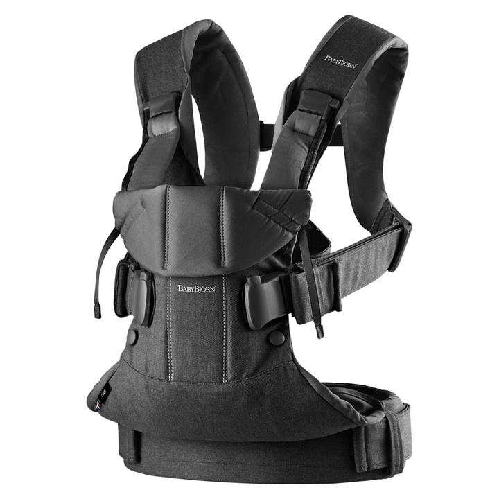 BabyBjorn Baby Carrier One – Black Cotton Mix