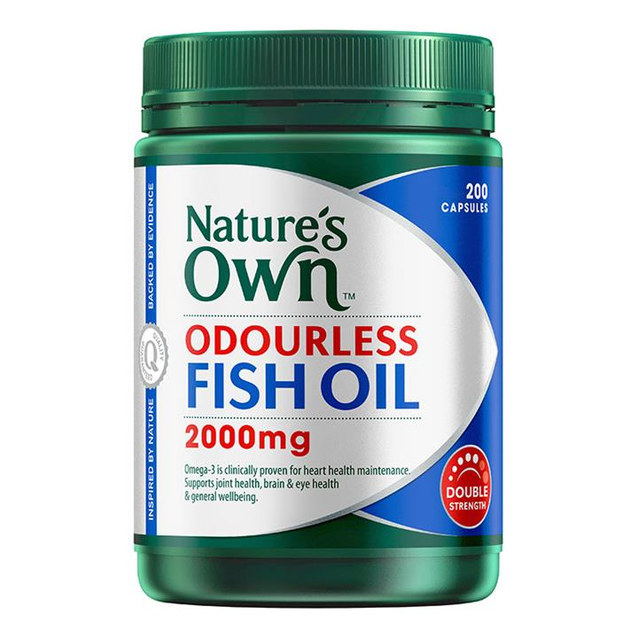 Nature's Own Double Strength Odourless Fish Oil 2000mg Cap X 200