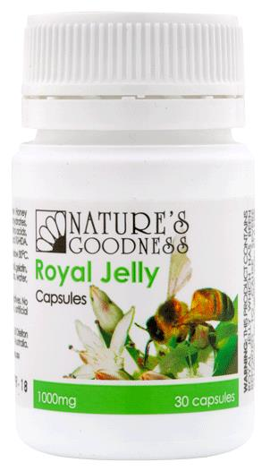 Nature's Goodness Royal Jelly 1000mg Cap X 30