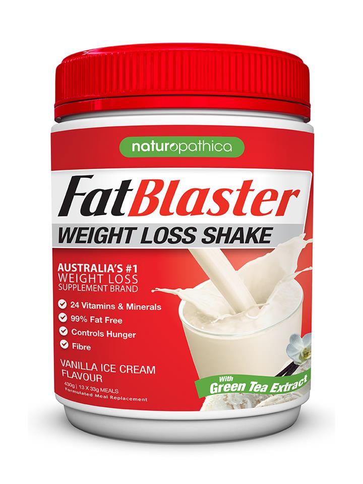 FatBlaster Weight Loss Shake Vanilla Ice Cream 430g (13 meals)