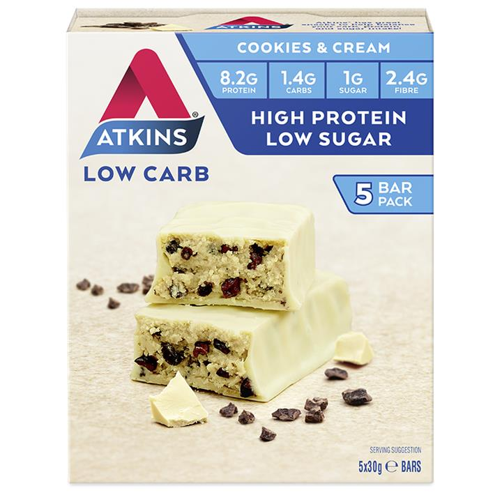 Atkins Advantage Bar (Cookies & Cream) 30g X 5