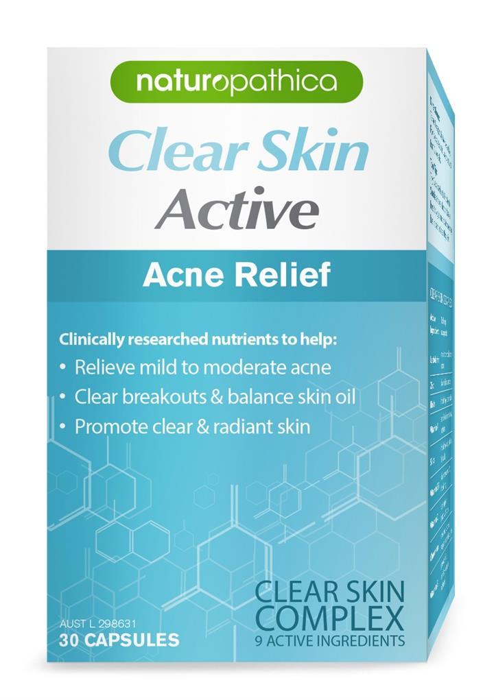 Naturopathica Clear Skin Active Acne Symptom Relief Cap X 30