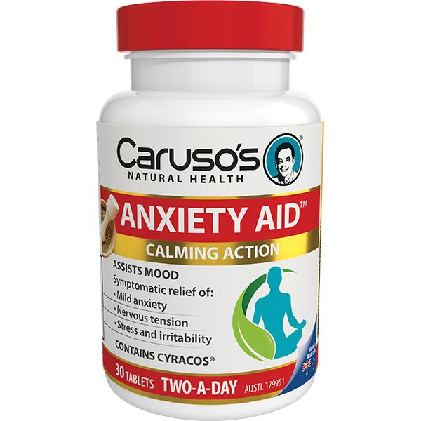 Caruso's Natural Health Anxiety Aid Tab X 30
