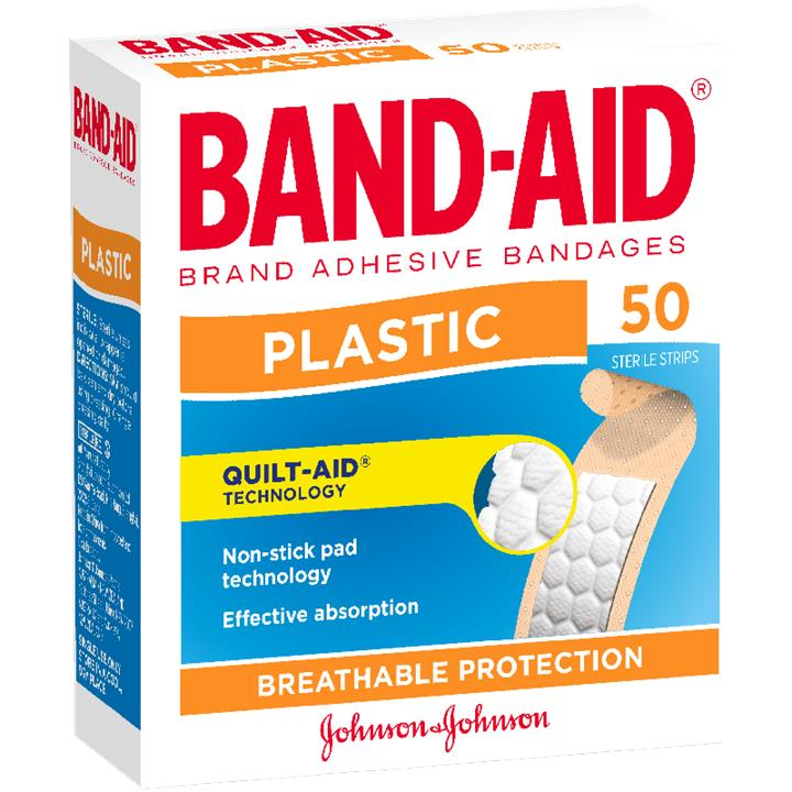 Band-Aid Plastic Strip X 50