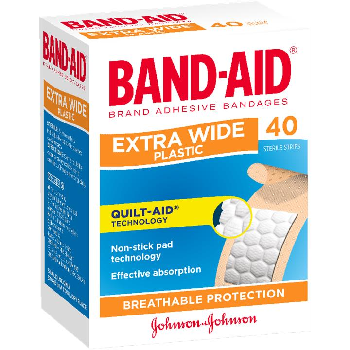 Band-Aid Extra Wide Strips X 40