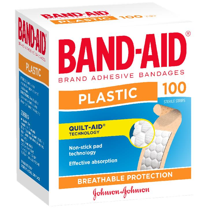 Band-Aid Plastic Strip X 100