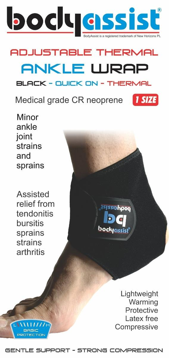 BodyAssist  Adjustable Thermal Ankle Wrap Black (One Size)
