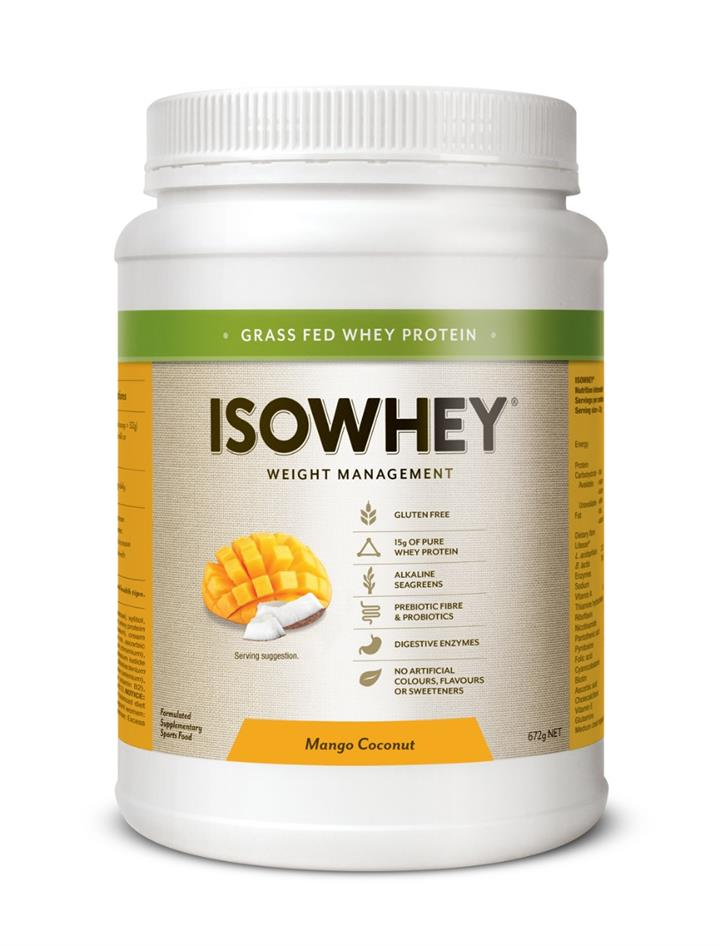 IsoWhey Weight Management – Mango Coconut 672g