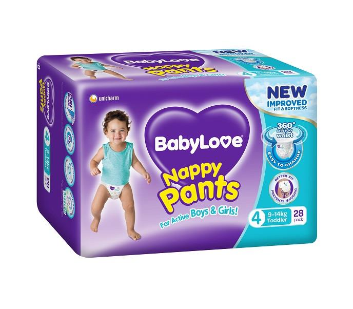 BabyLove Nappy Pants Toddler (9 to 14kg) X 28 (Limit 2 per order)