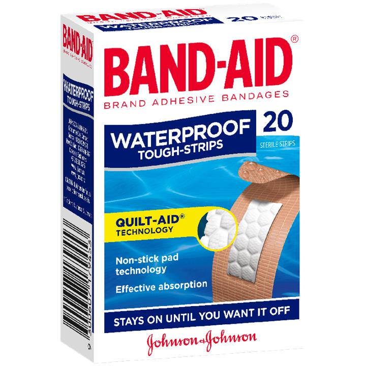 Band-Aid Tough-Strips Waterproof X 20