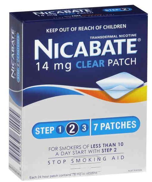 Nicabate Patches Clear 14mg X 7