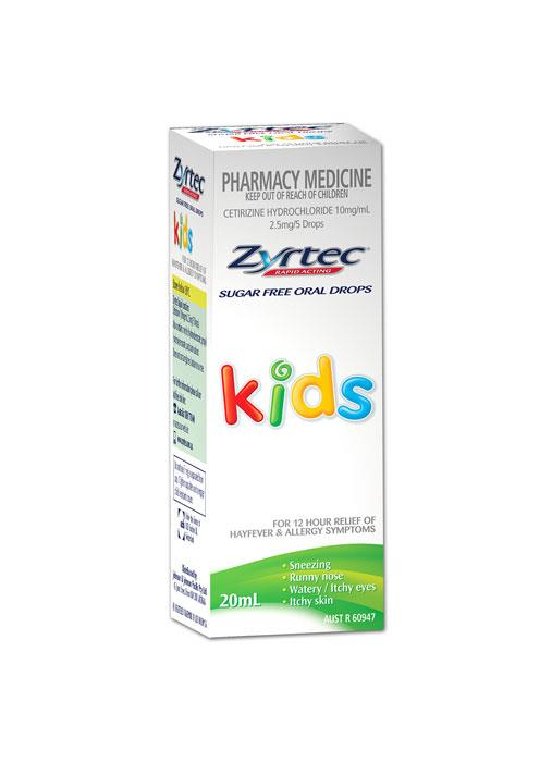 Zyrtec Oral Drops For Kids 20ml