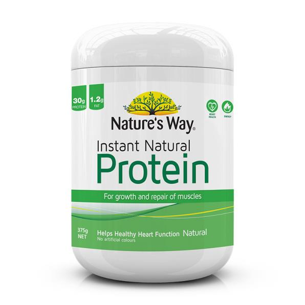 Nature's Way Instant Natural Protein Powder (Unflavoured) 375g