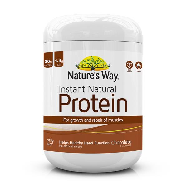 Nature's Way Instant Natural Plant-Based Protein Powder (Chocolate) 375g