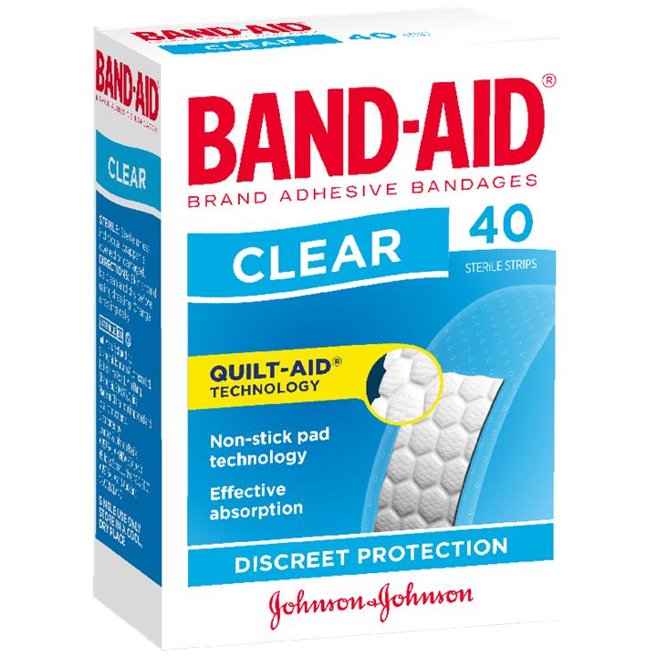 Band-Aid Clear Strips X 40