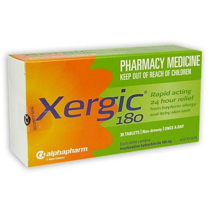Xergic 180mg Tab X 30 (Generic for TELFAST)