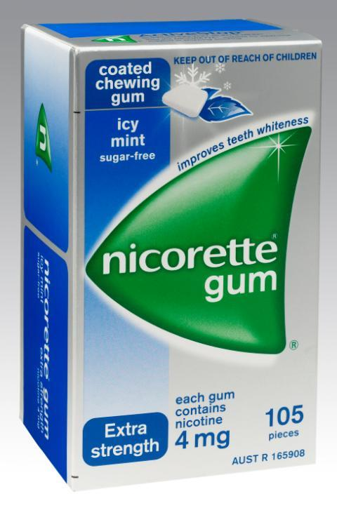 Nicorette Chewing Gum 4mg Icy Mint X 105