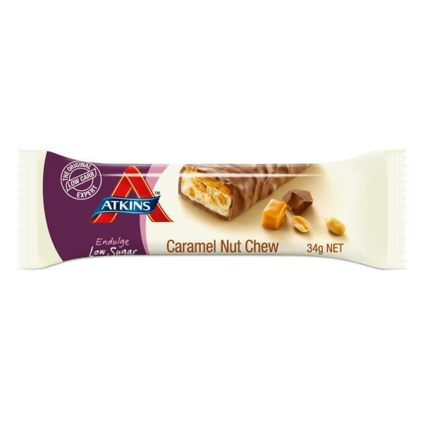 Atkins Endulge Caramel Nut Chew Bars 34g X 15