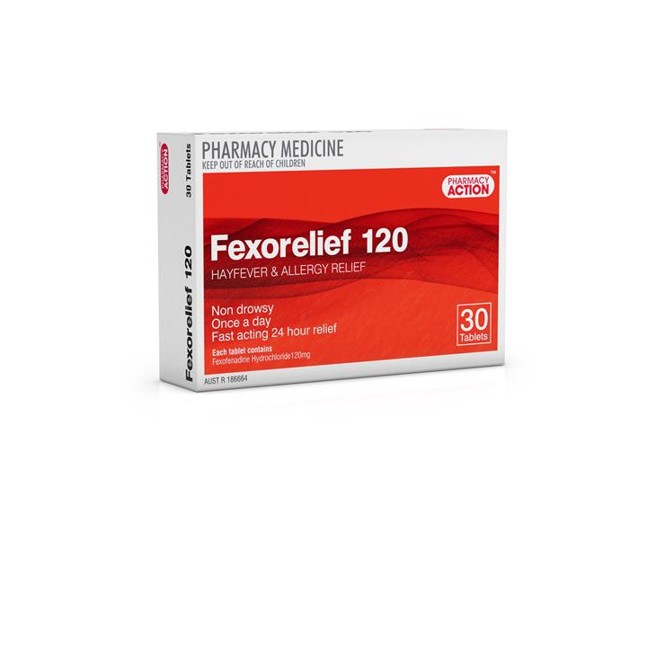 Fexorelief 120mg Tab X 30 (Generic for TELFAST)