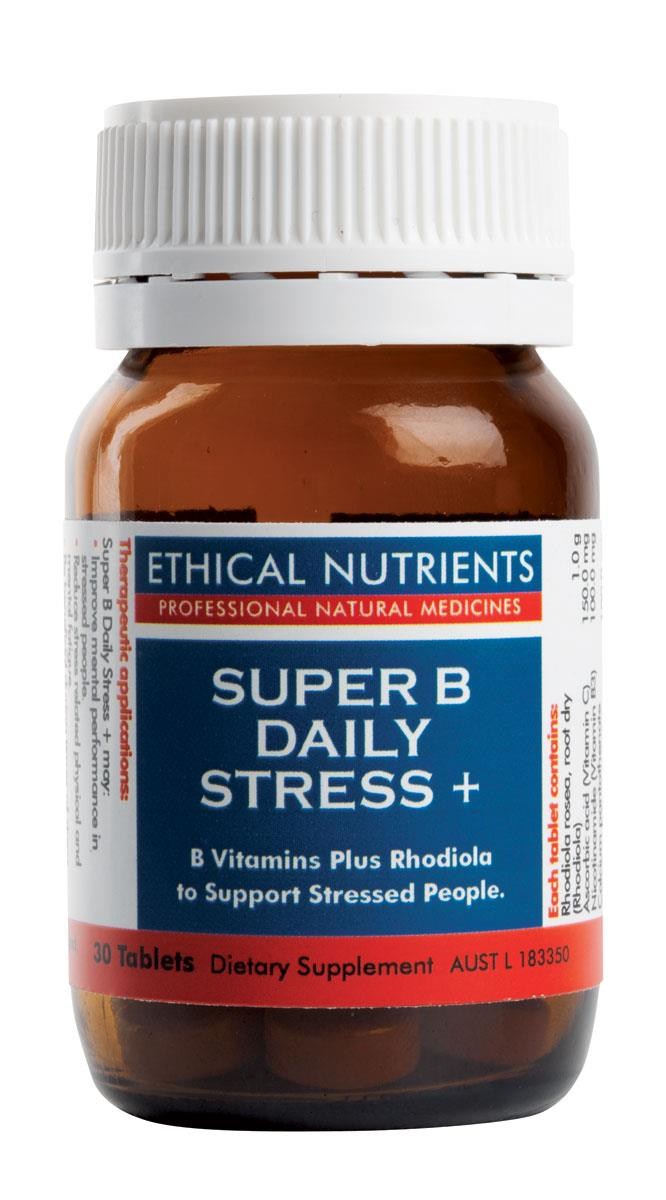 Ethical Nutrients Super B Daily Stress + Tab X 30
