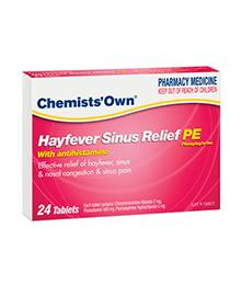 Chemists' Own Sinus + Allergy & Pain Relief PE Tab X 24