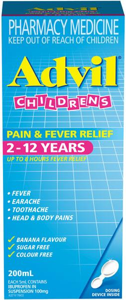 Advil Children's Pain & Fever Relief 2-12 Years 200ml