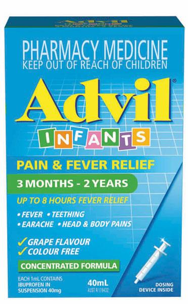 Advil Infants Pain & Fever Relief Drops 40ml  (Alternative to Nurofen)