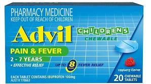 Advil Children's Chewable 2-7 Years Tab X 20 (Alternative to Nurofen)