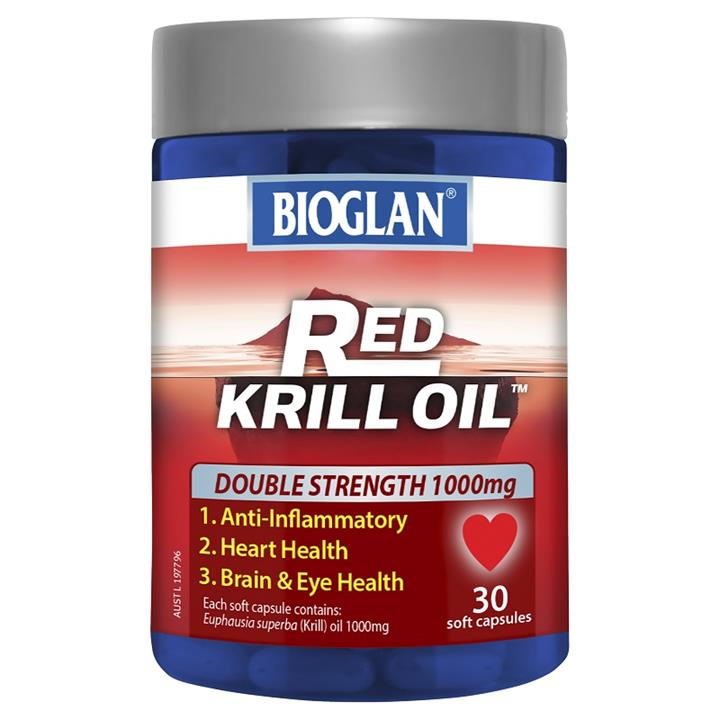 Bioglan Red Krill Oil Double Strength 1000mg Cap X 30