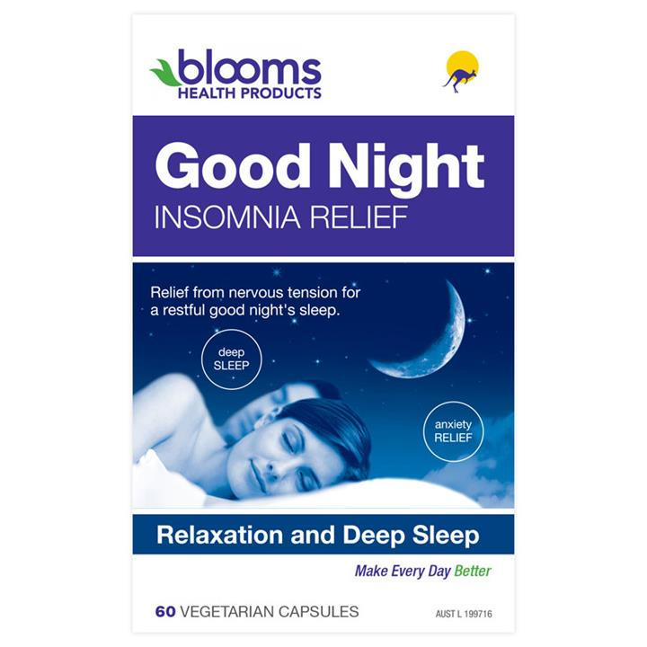 Henry Blooms Good Night Insomnia Relief Cap X 60
