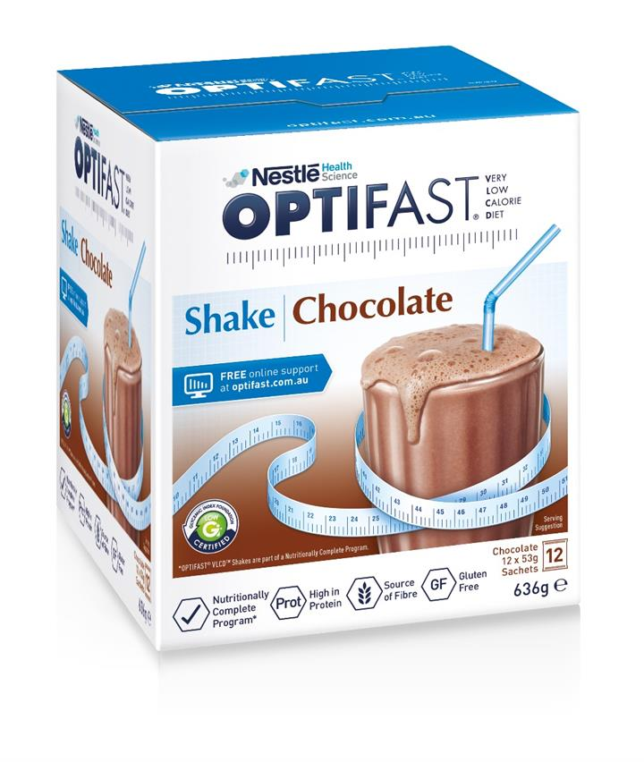 Optifast VLCD Milk Shake (Chocolate) 53g X 12